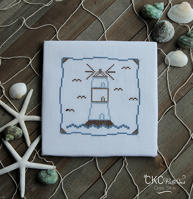 "Nautical ""Light House"" Cross Stitch PDF Pattern"