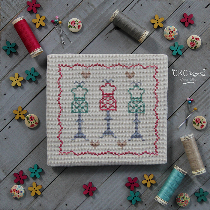 "Sewing  ""Dress Forms"" Cross Stitch PDF Pattern"