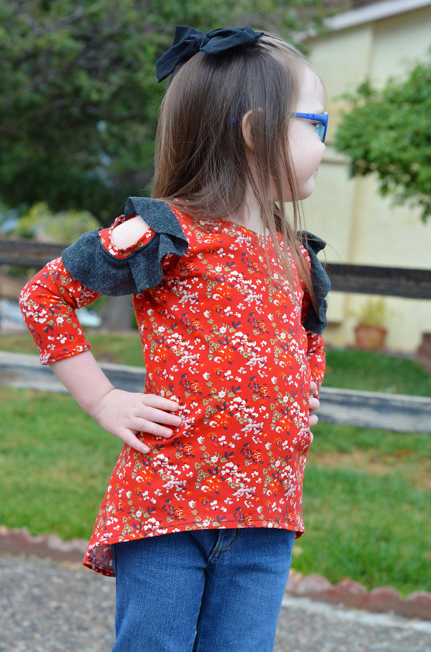 Jayla's Cold Shoulder Tunic Sizes 2T to 14 Kids PDF Pattern