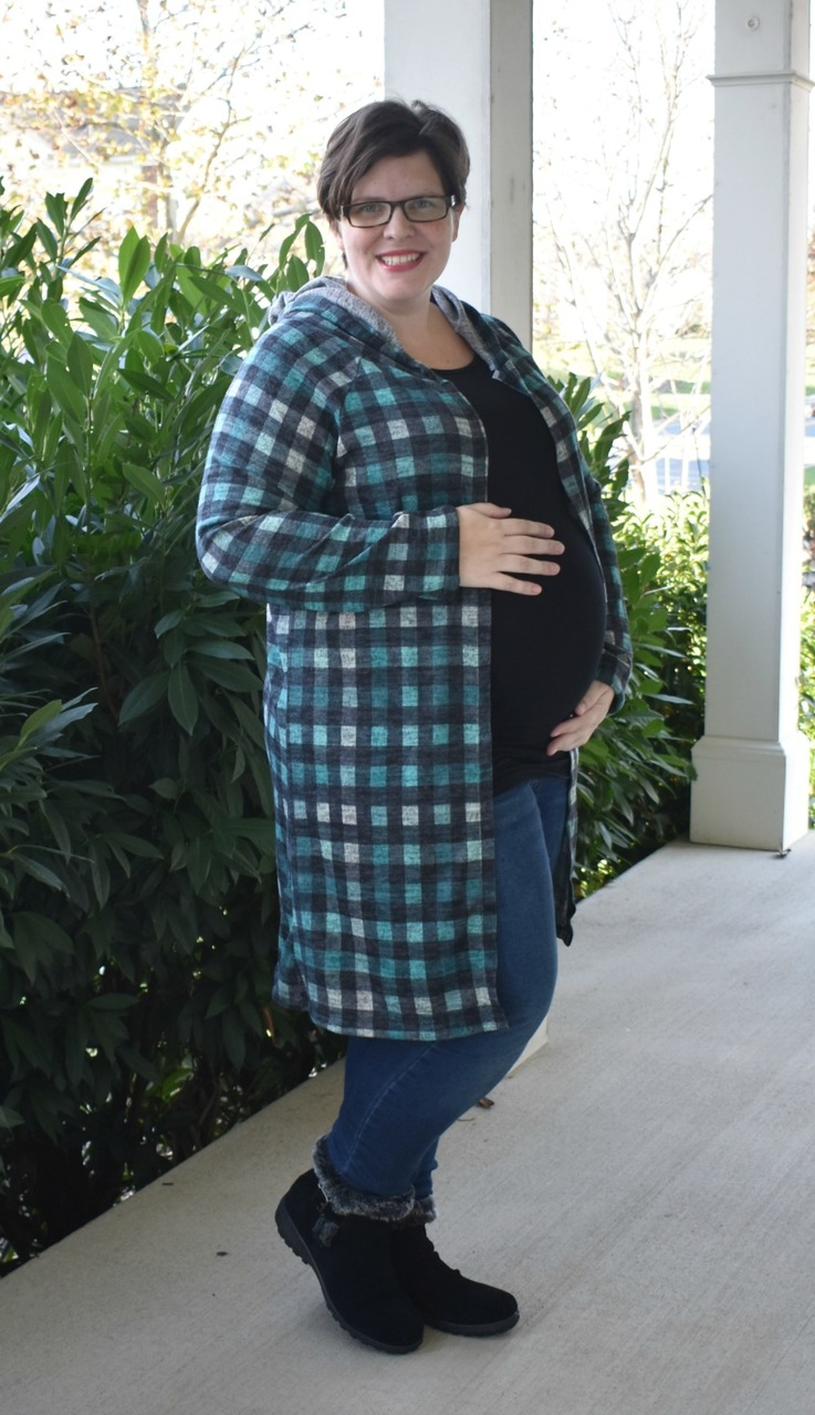 Casey's Hooded Raglan Cardigan Sizes XXS to 3X Adults PDF Pattern