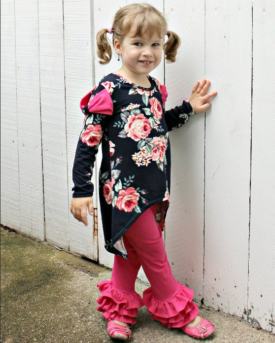 Beyonce's Bow-licious Top and Dress Sizes 2T to 14 Kids PDF Pattern