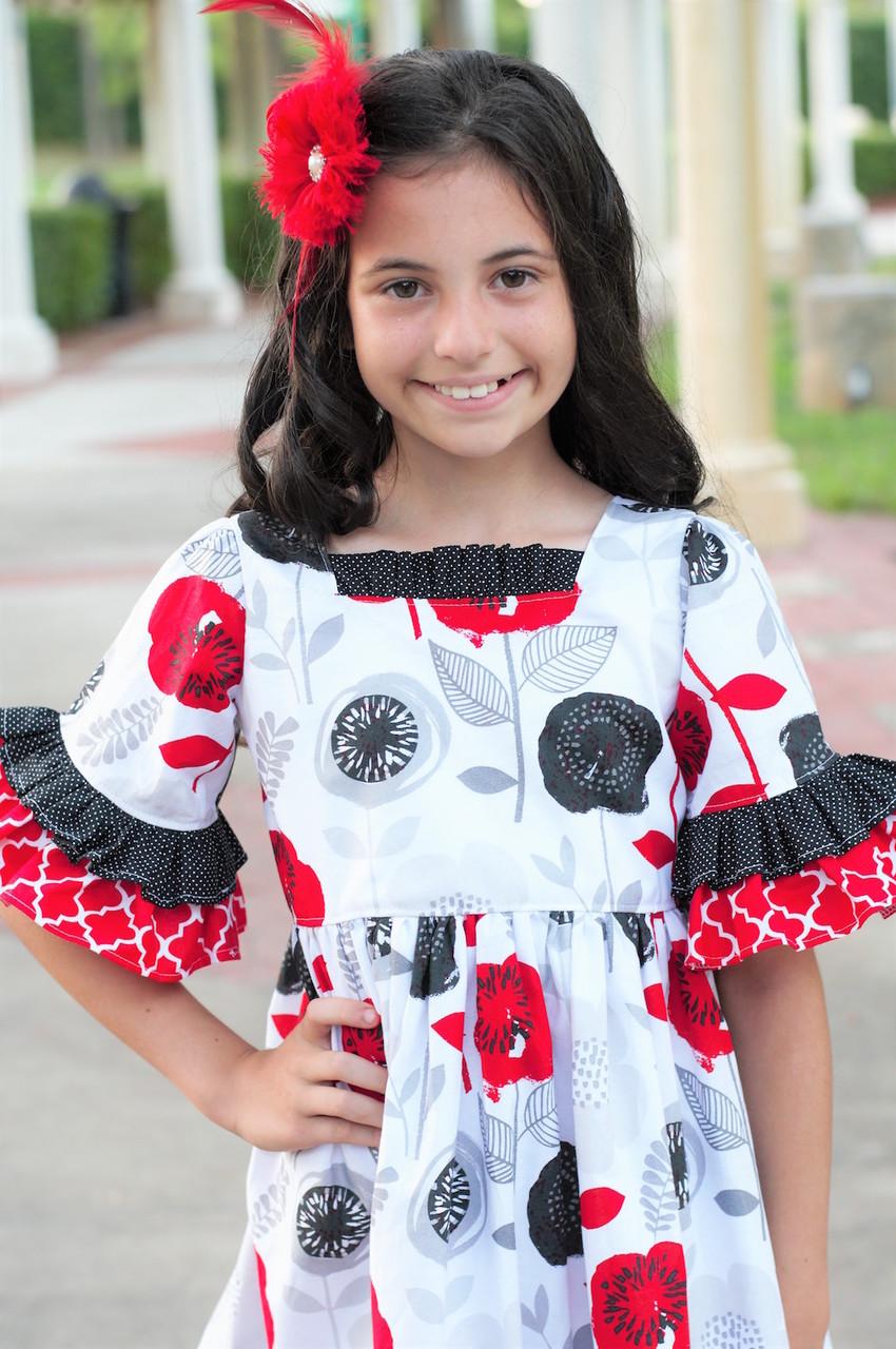 Evelyn's Dress Sizes 2T to 14 Kids PDF Pattern