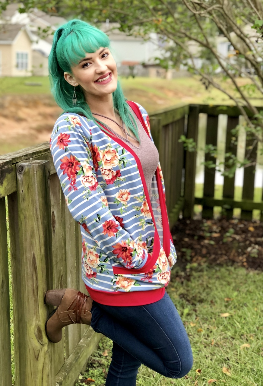 Emmalyn's Cardigan Sizes XXS to 3X Adults PDF Pattern