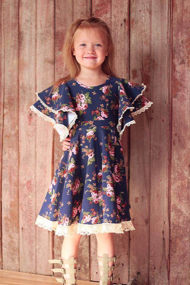 Sylvia's Sweet Knit Dress Sizes 2T to 14 Kids PDF Pattern