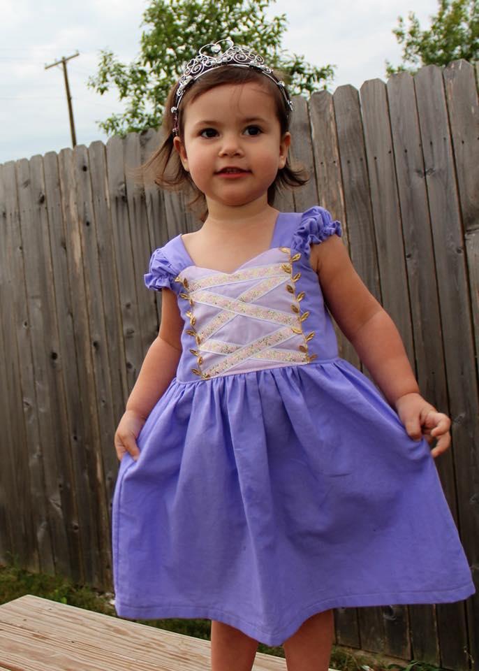 Arabella's Dress-up Dress Sizes 2T to 14 Kids PDF Pattern