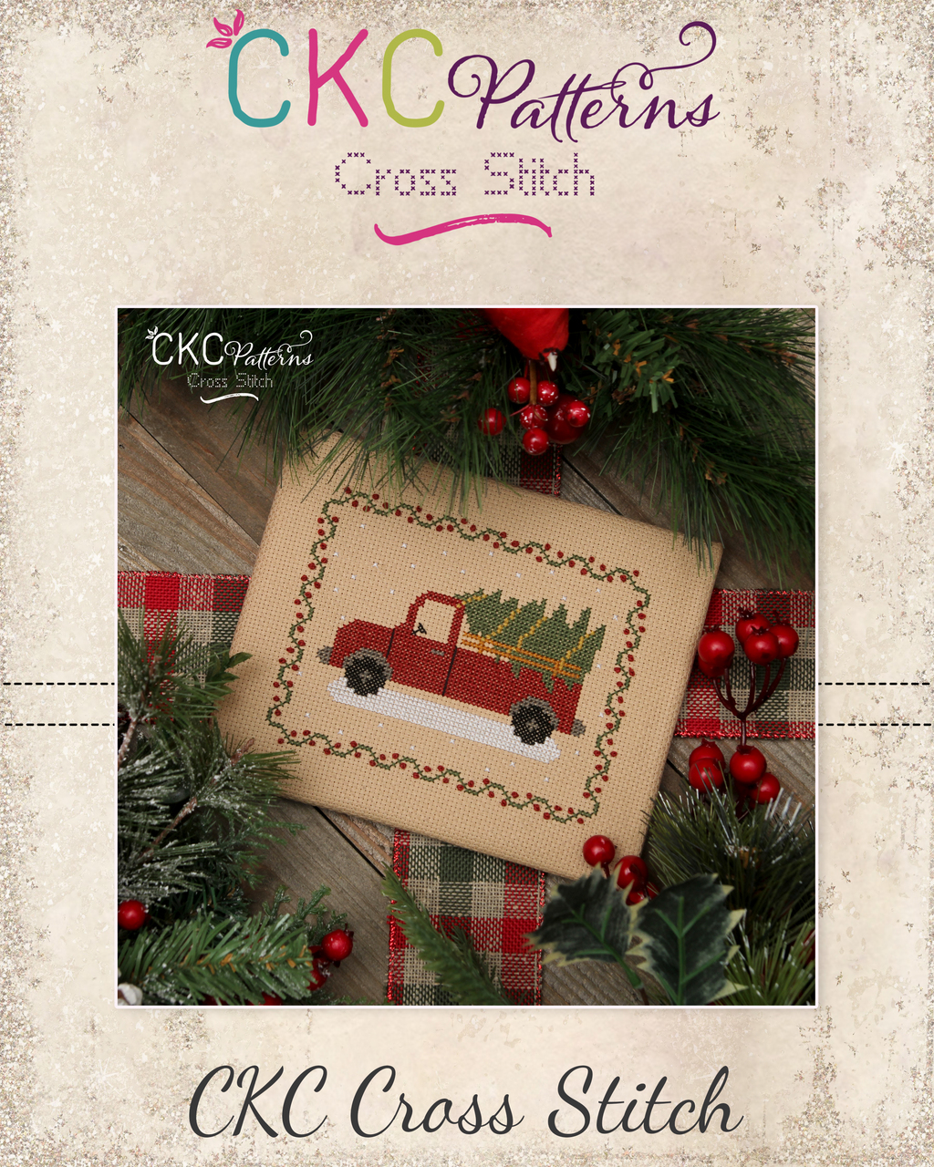 """Christmas Truck"" Cross Stitch PDF Pattern"
