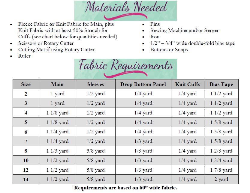 Nickolas' Drop-Bottom PJ's Sizes NB to 14 Kids PDF Pattern