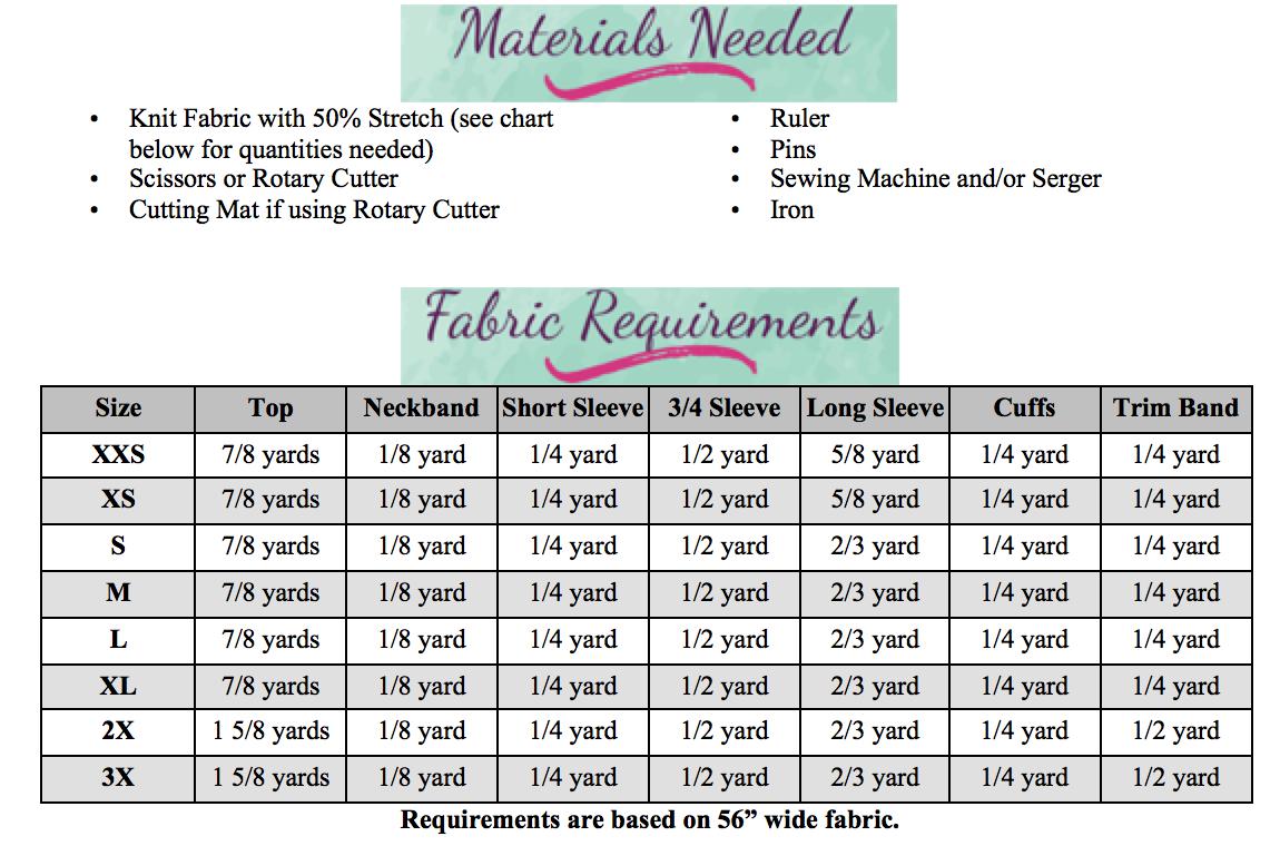 Hollis' Crossover Hem Top Sizes XXS to 3X Adults PDF Pattern