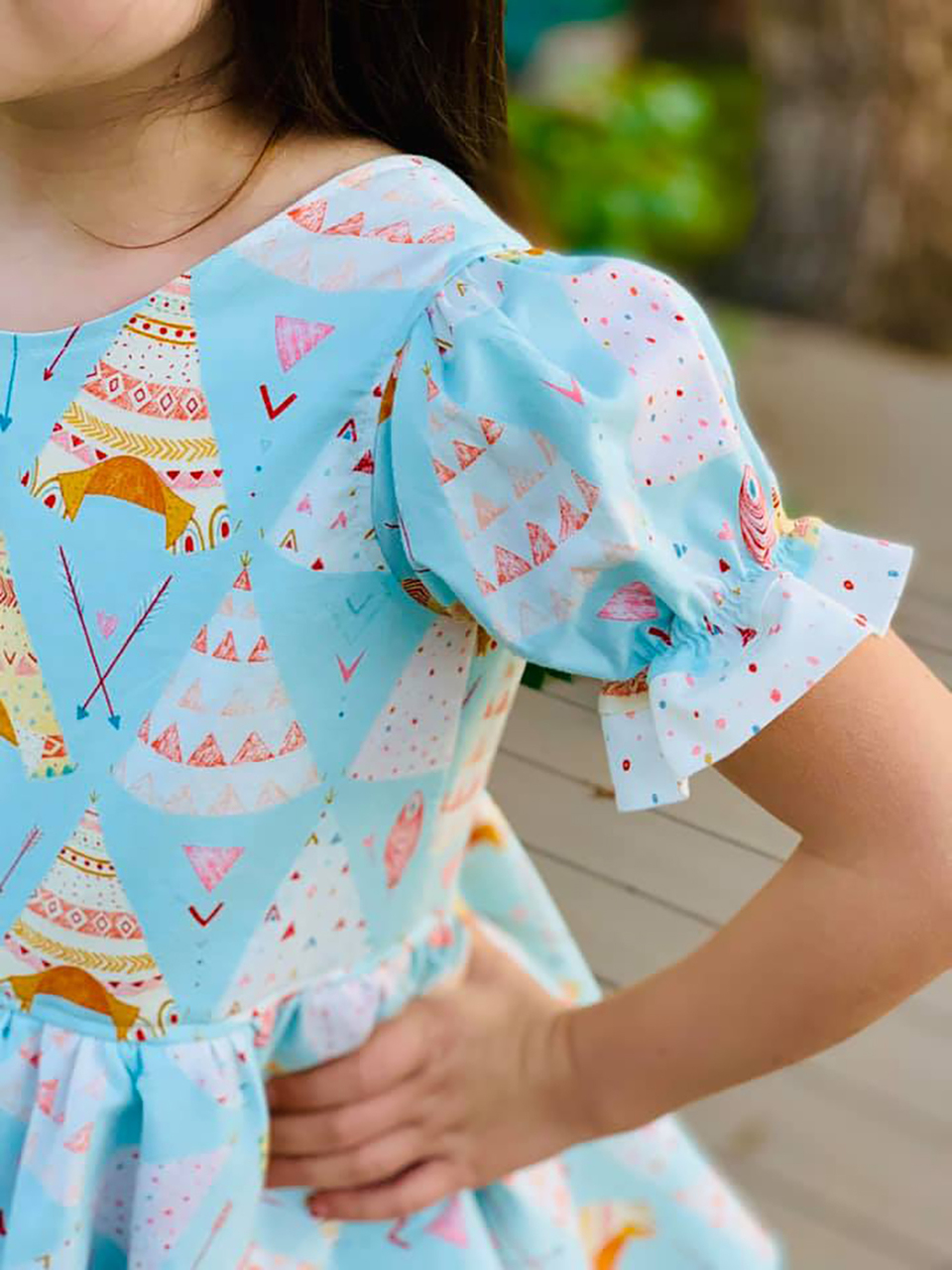 Paramore's Tiered Dress Sizes 2T to 14 Kids PDF Pattern