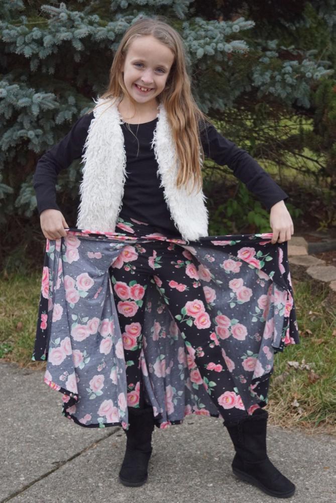 Antonia's Walk Through Maxi Skirt Sizes 2T to 14 Kids PDF Pattern