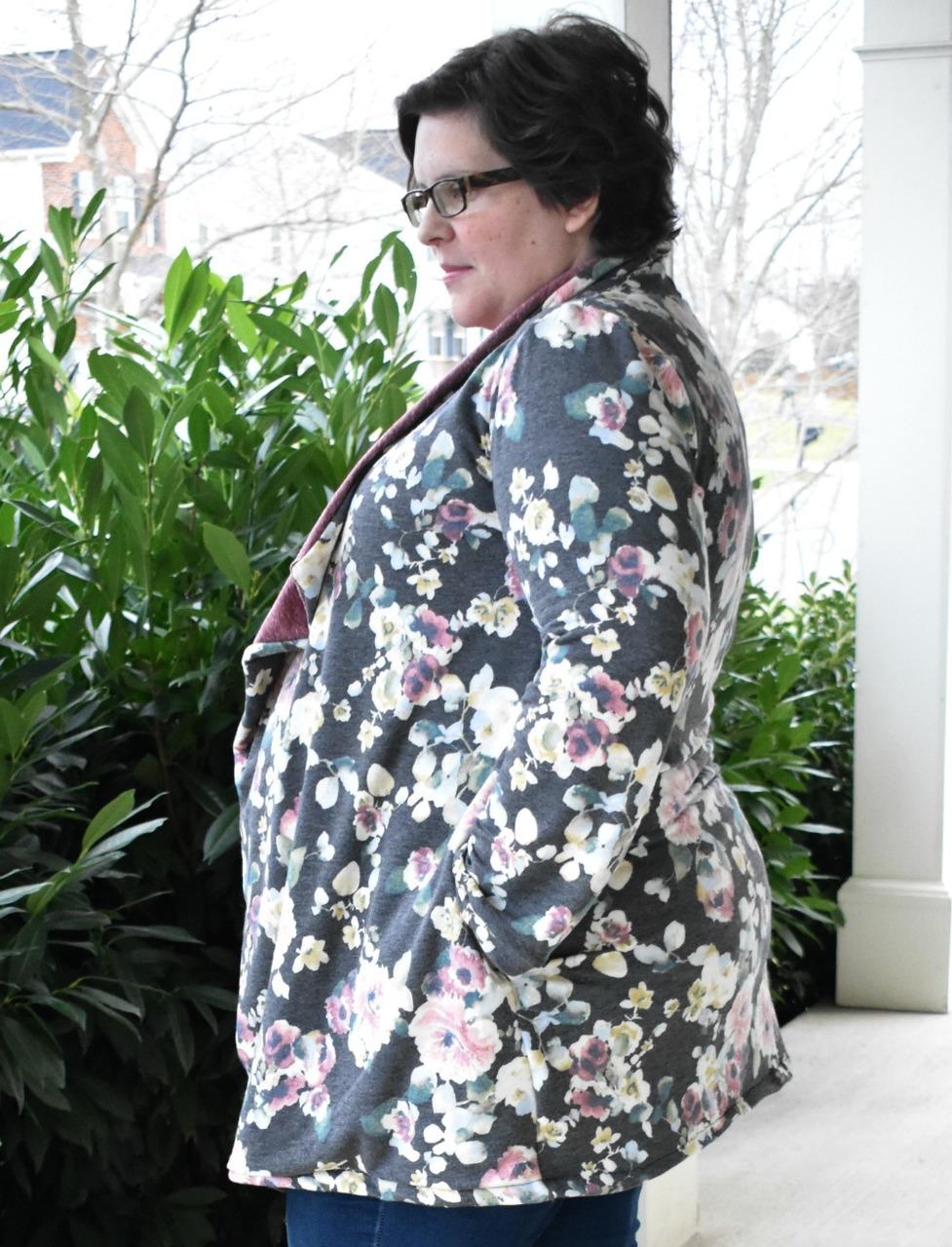 Dora's Drape Front Cardigan Sizes XXS to 3X Adults PDF Pattern