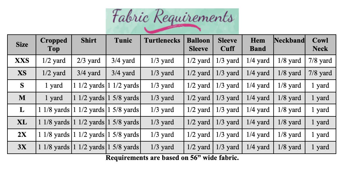 Jemima's Balloon Sleeve Top Sizes XXS to 3X Adults PDF Pattern