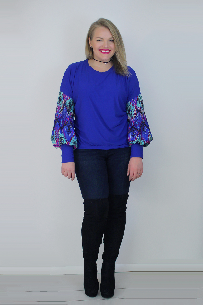 Jemima's Balloon Sleeve Top Sizes XXS to 3X Adults PDF Pattern