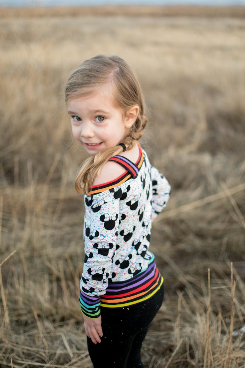 Ellis' Off the Shoulder Top Sizes 2T to 14 Kids PDF Pattern