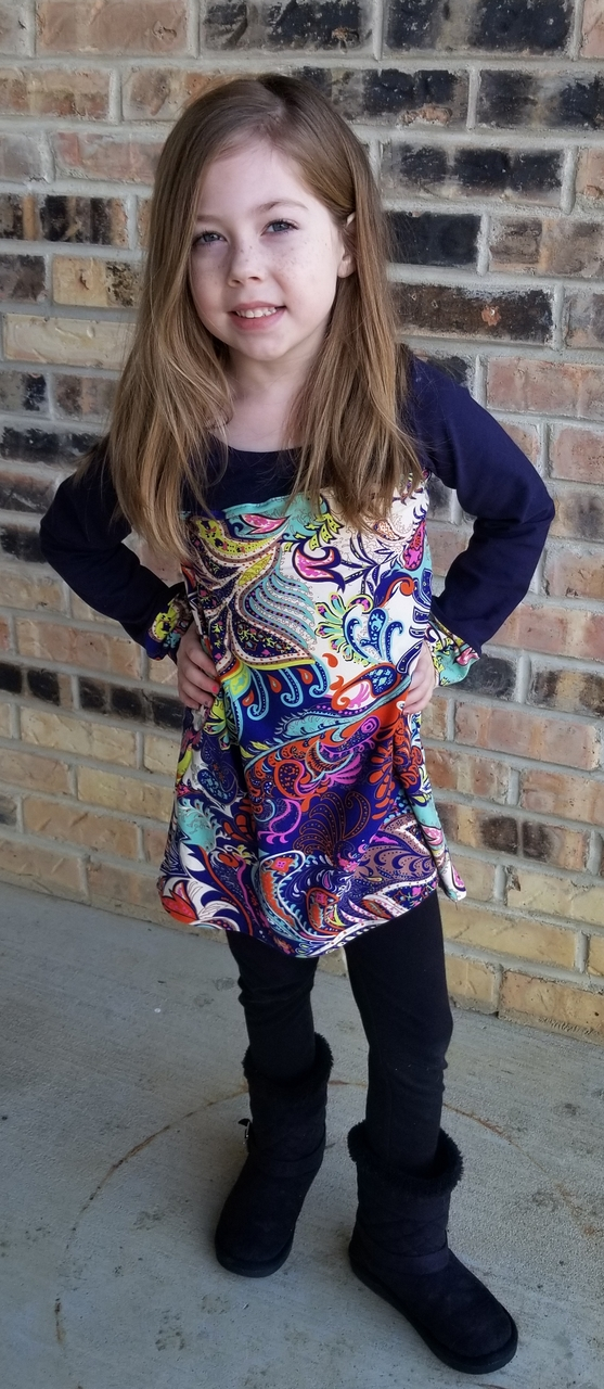 Tierney's Detailed Top and Dress Sizes 2T to 14 Kids PDF Pattern