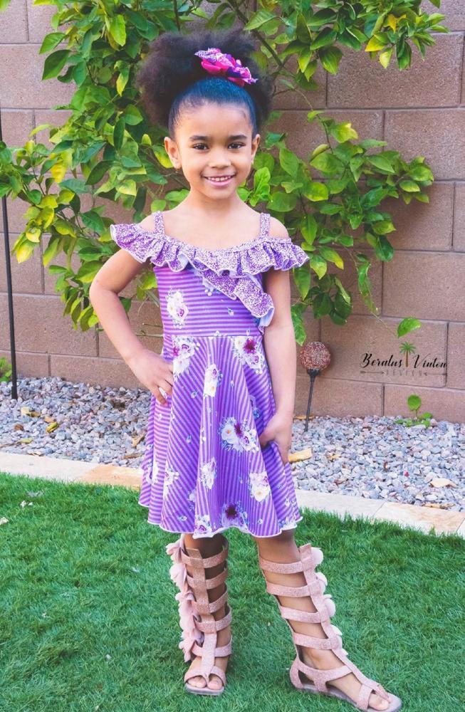 Boardwalk Summer Dress and Top Sizes 2T to 14 Kids PDF Pattern