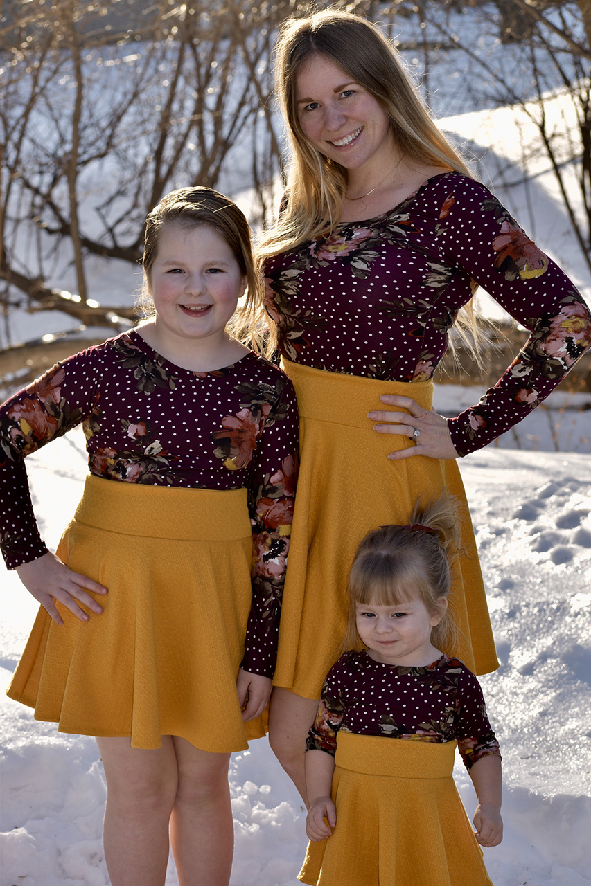 Skylan's Knit Fitted Scoop Neck & Back Crop Top, Top and Dress Sizes XXS to 3X Adults PDF Pattern