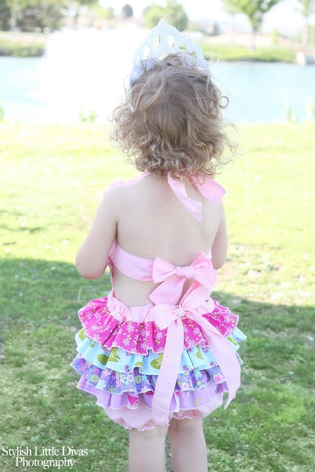 Zoe's Ruffled Sunsuit Sizes 6/12m to 8 Kids PDF Pattern