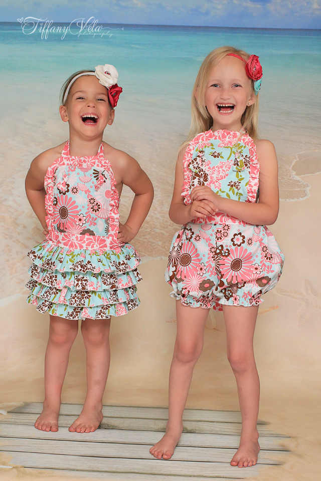 Zoe's Ruffled Sunsuit Sizes 6/12m to 8 Kids PDF Pattern