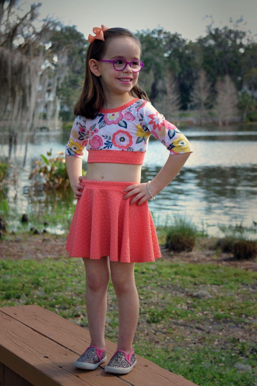 Duchess's Knit Circle Skirt Sizes 2T to 14 Kids PDF Pattern