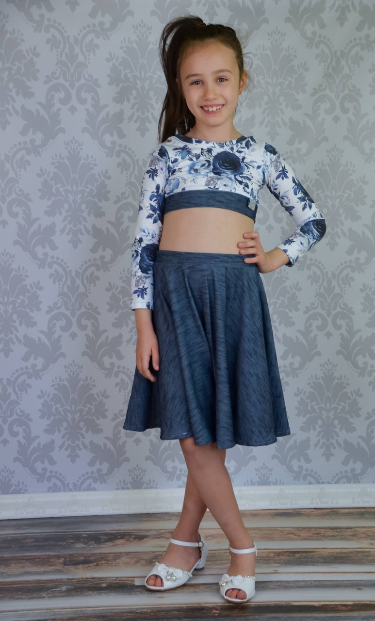 Duchess's Knit Circle Skirt Sizes 2T to 14 Kids PDF Pattern