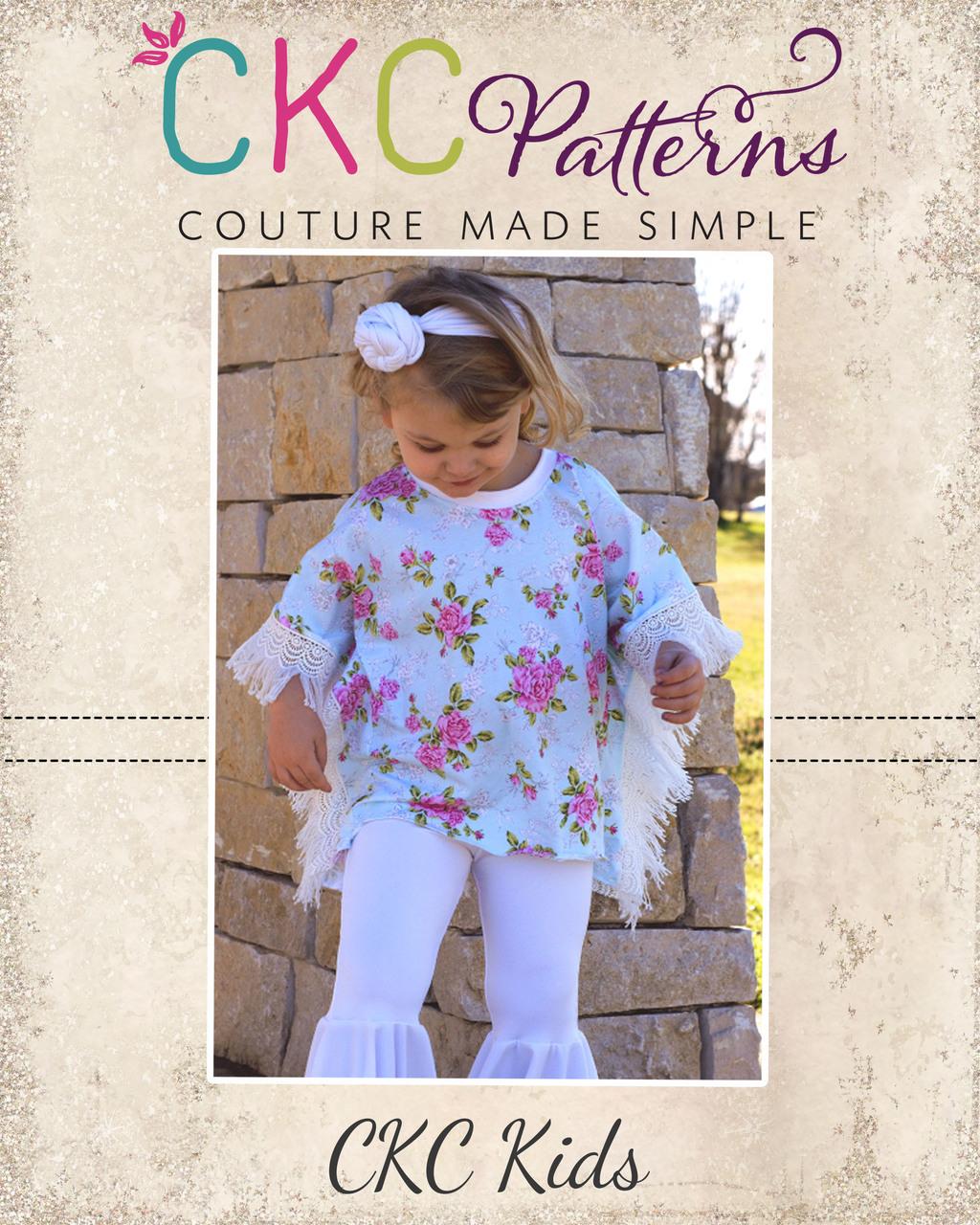 Serendipity's Boho Knit Top and Dress Sizes 2T to 14 Kids PDF Pattern
