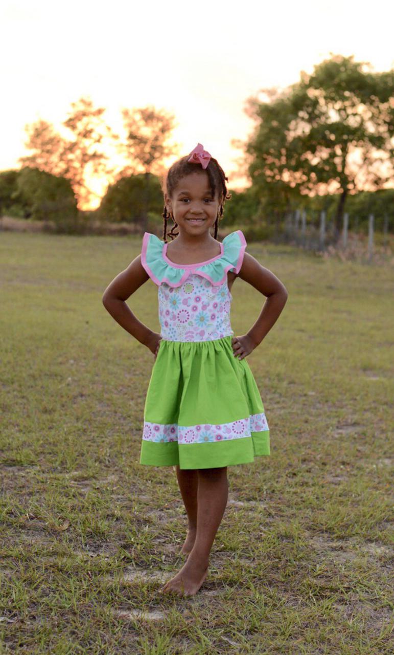 Laird's Ruffle Collar Dress Sizes 2T to 14 Kids PDF Pattern