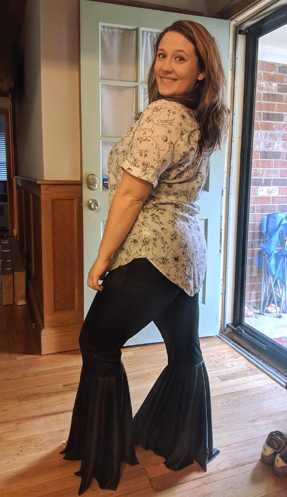 Persea's Bell Bottom Leggings Sizes XXS to 3X Adults PDF Pattern