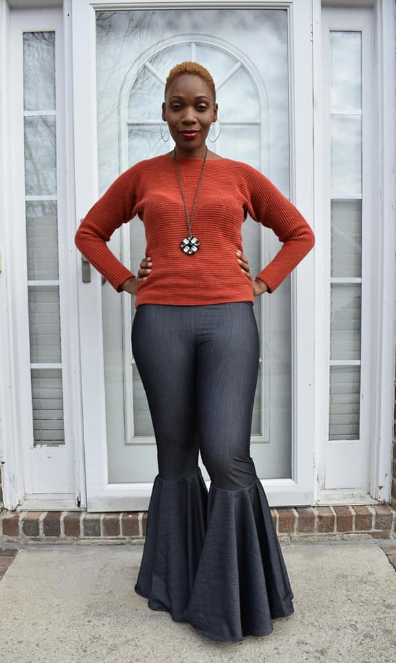 Persea's Bell Bottom Leggings Sizes XXS to 3X Adults PDF Pattern