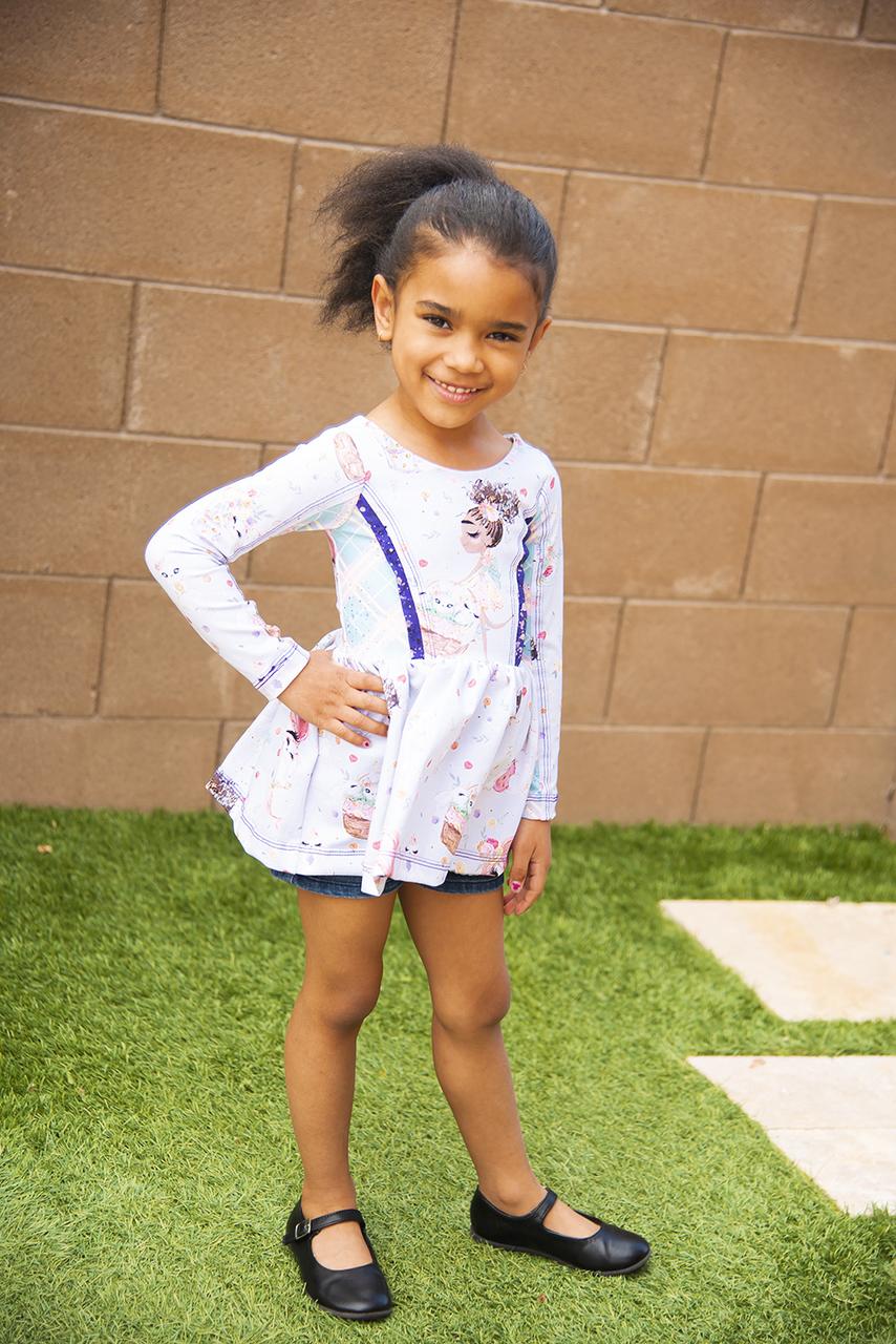 Abbex's Double Skirt Knit Dress Sizes 2T to 14 Kids PDF Pattern