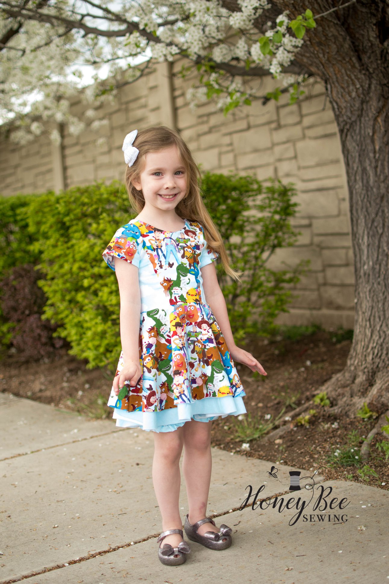Abbex's Double Skirt Knit Dress Sizes 2T to 14 Kids PDF Pattern