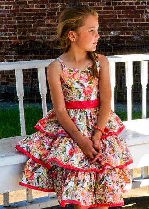 Robyn's Ruffle Top, Tunic and Dress Sizes 2T to 14 Kids PDF Pattern