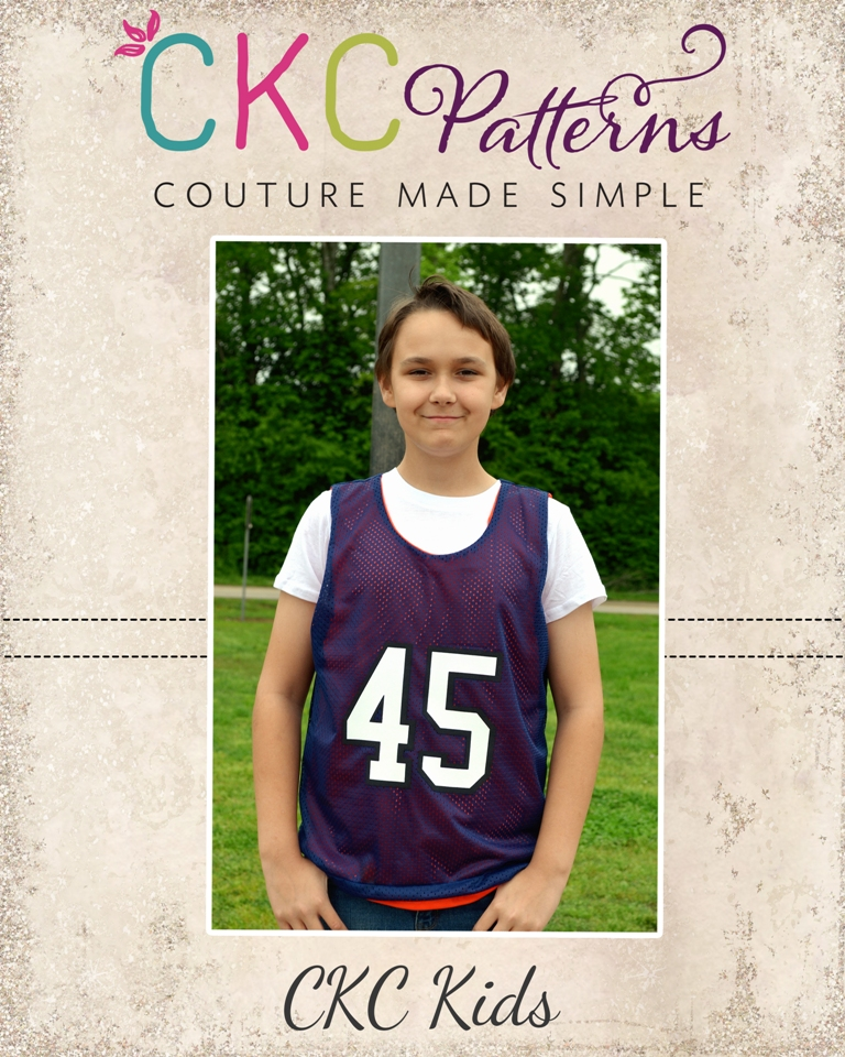 Stockton's Reversible Practice Jersey Sizes 2T to 14 Kids PDF Pattern