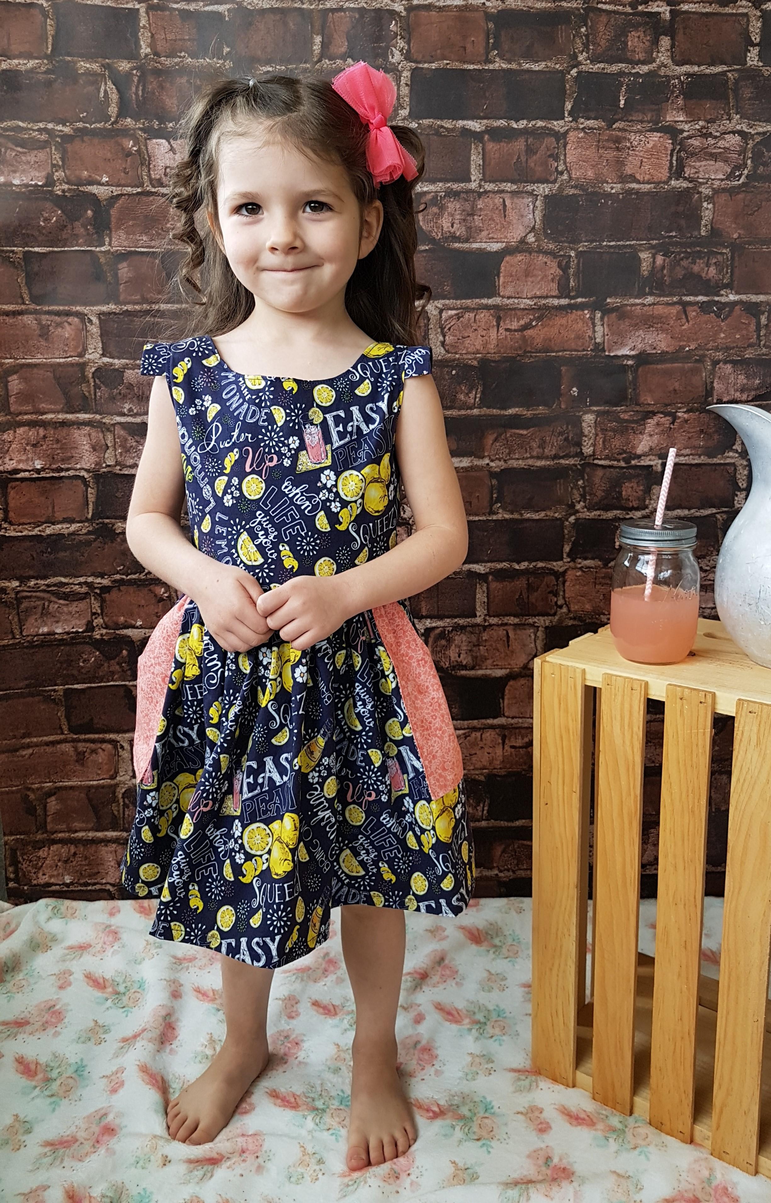 Paloma's Pocket Dress Sizes 2T to 14 Kids PDF Pattern