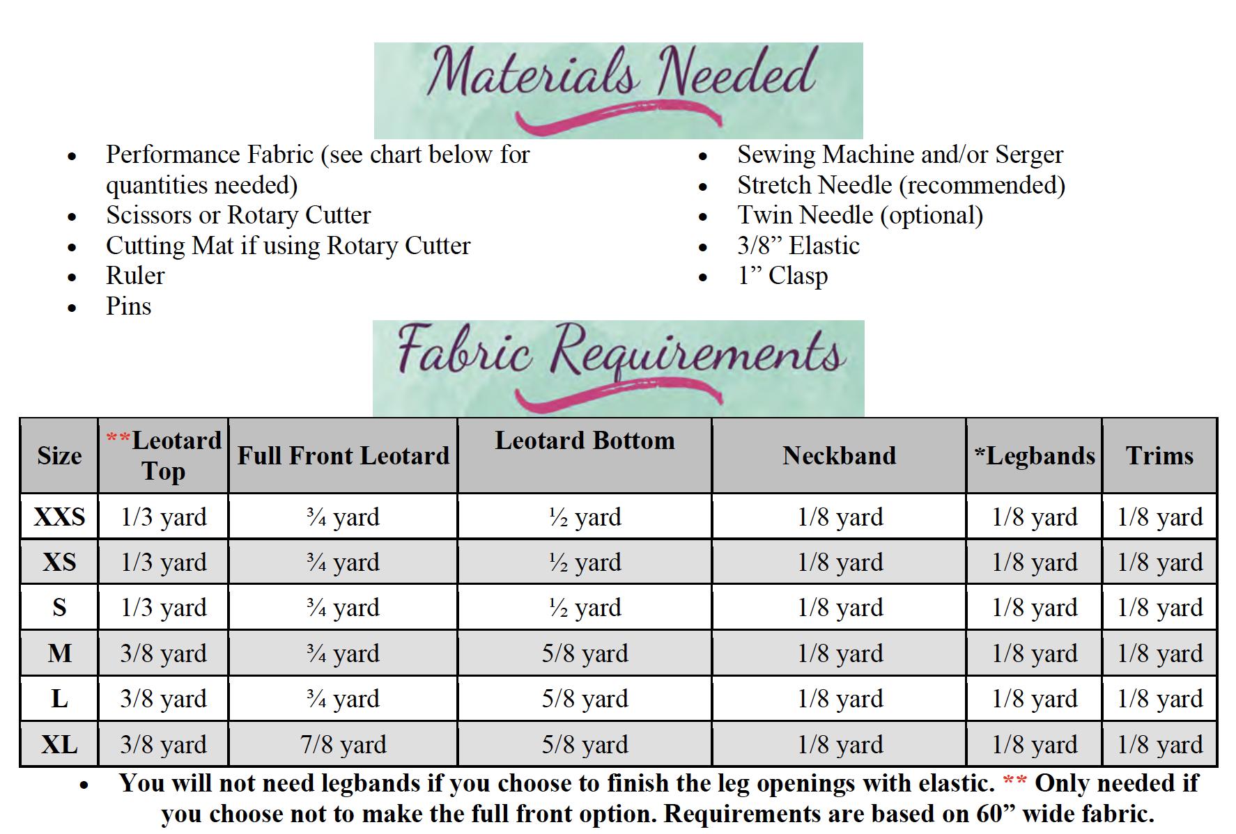 Qiana's Keyhole Leotard Sizes XXS to XL Adults PDF Pattern