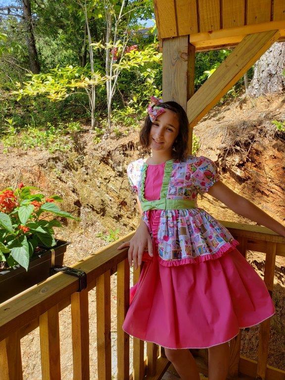 Sable's Teatime Dress Sizes NB to 14 Kids PDF Pattern