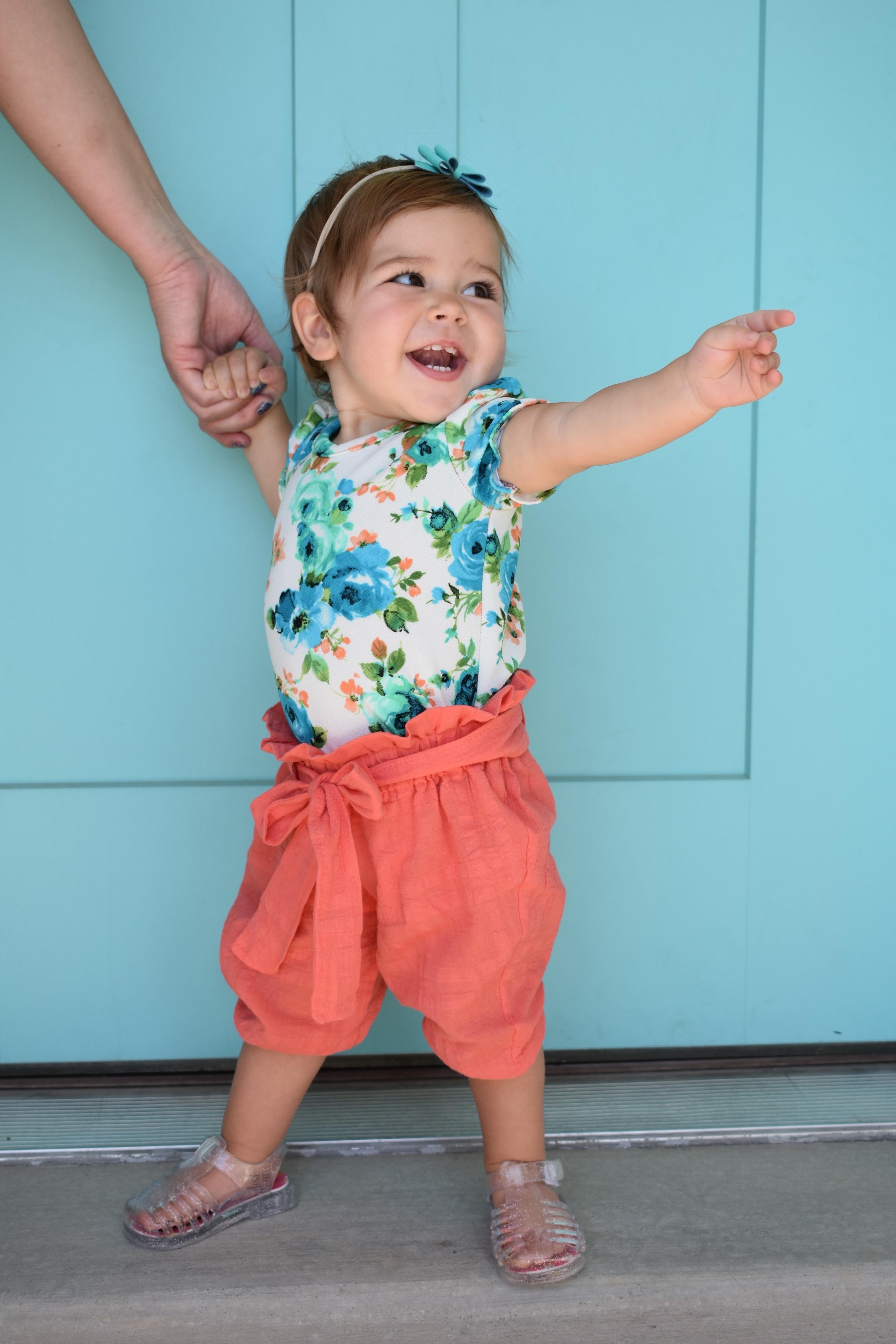 Century's High Waisted Elastic & Paperbag Pants, Capris, & Shorts Sizes NB to 14 Kids PDF Pattern