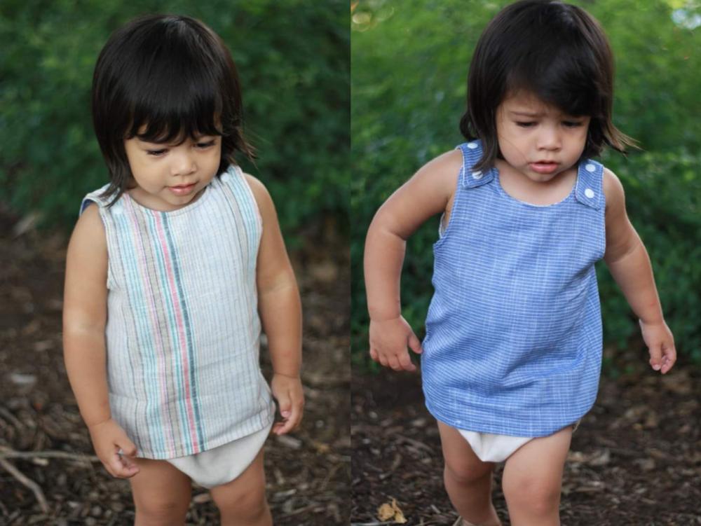 Boston's Reversible Set Sizes NB to 18/24m Babies PDF Pattern