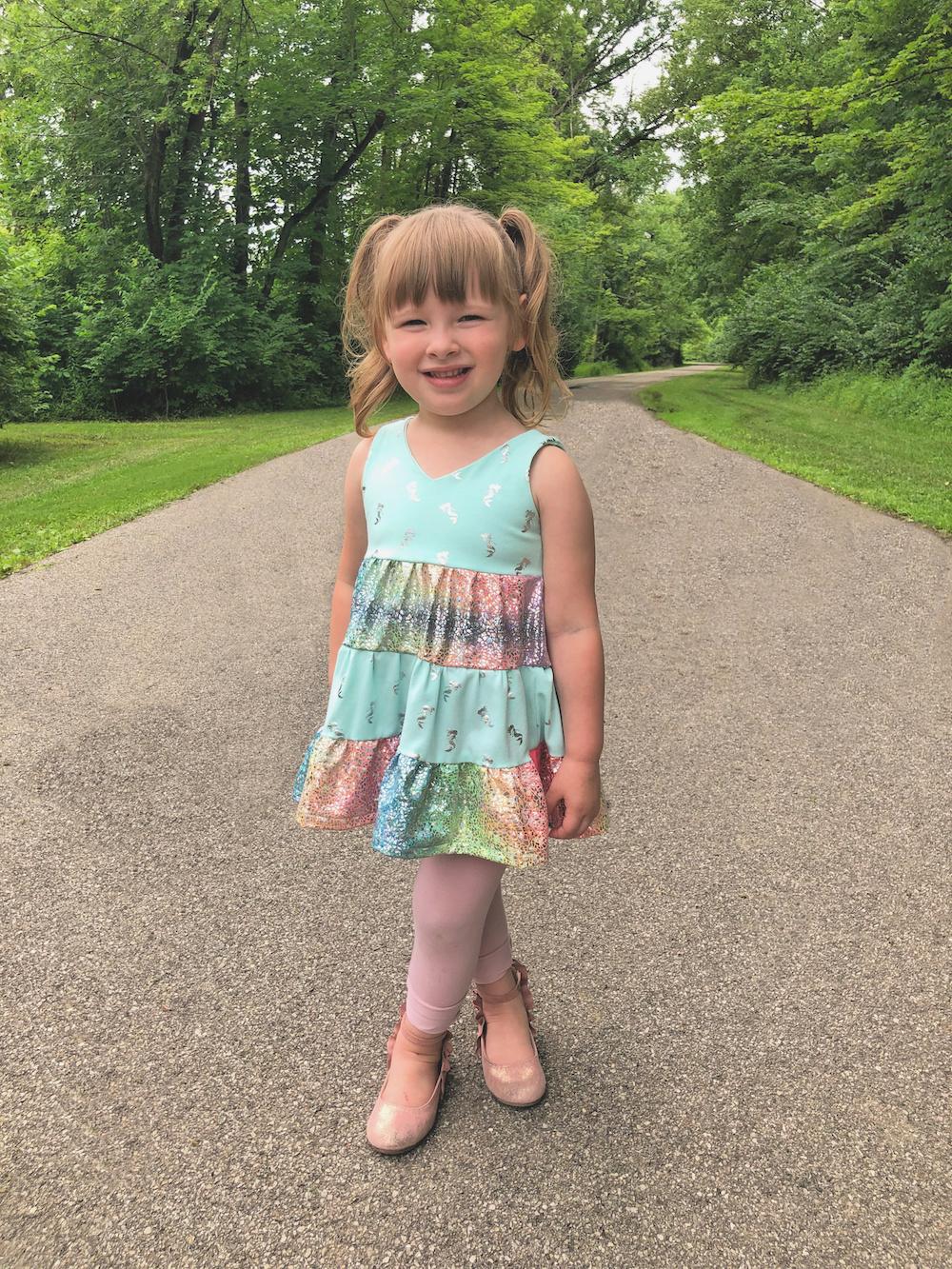 Mavis' Tiered Dress Sizes 2T to 14 Kids PDF Pattern