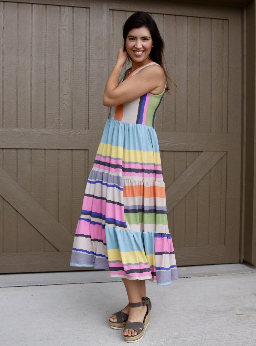 Mavis' Tiered Dress Sizes XXS to 3X Adults PDF Pattern