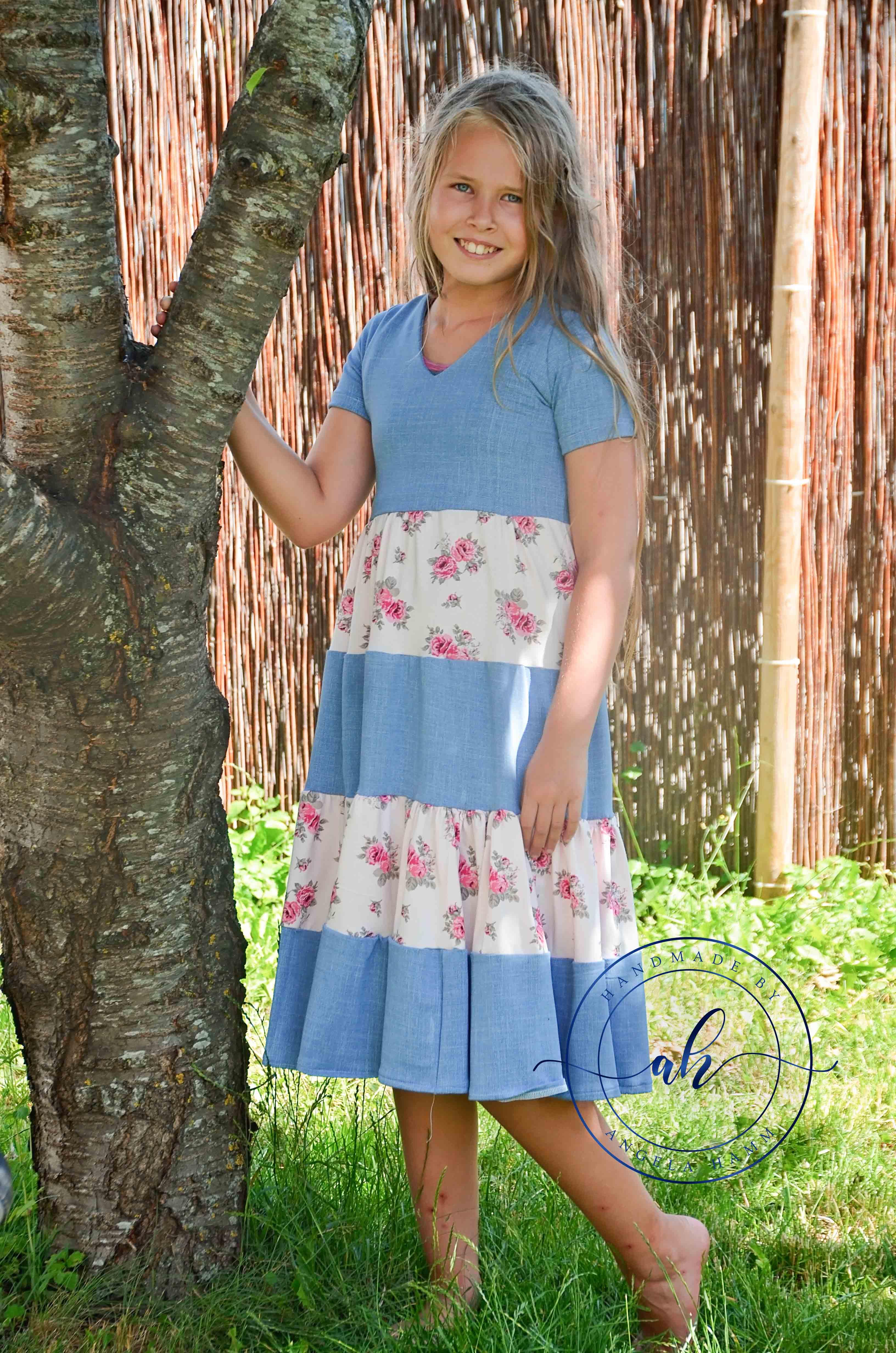 Mavis' Tiered Dress Sizes XXS to 3X Adults PDF Pattern