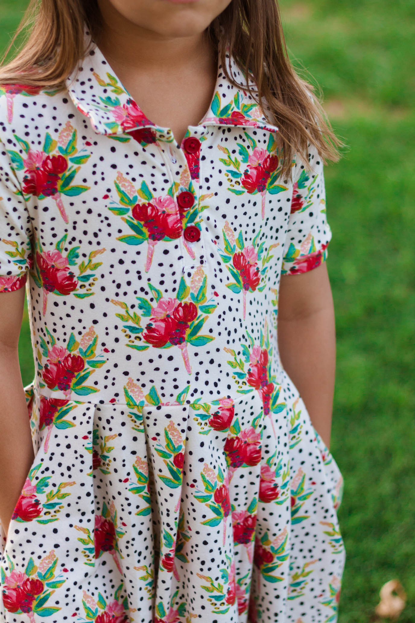 Polina's Uniform Polo Top and Dress Sizes 2T to 14 Kids PDF Pattern
