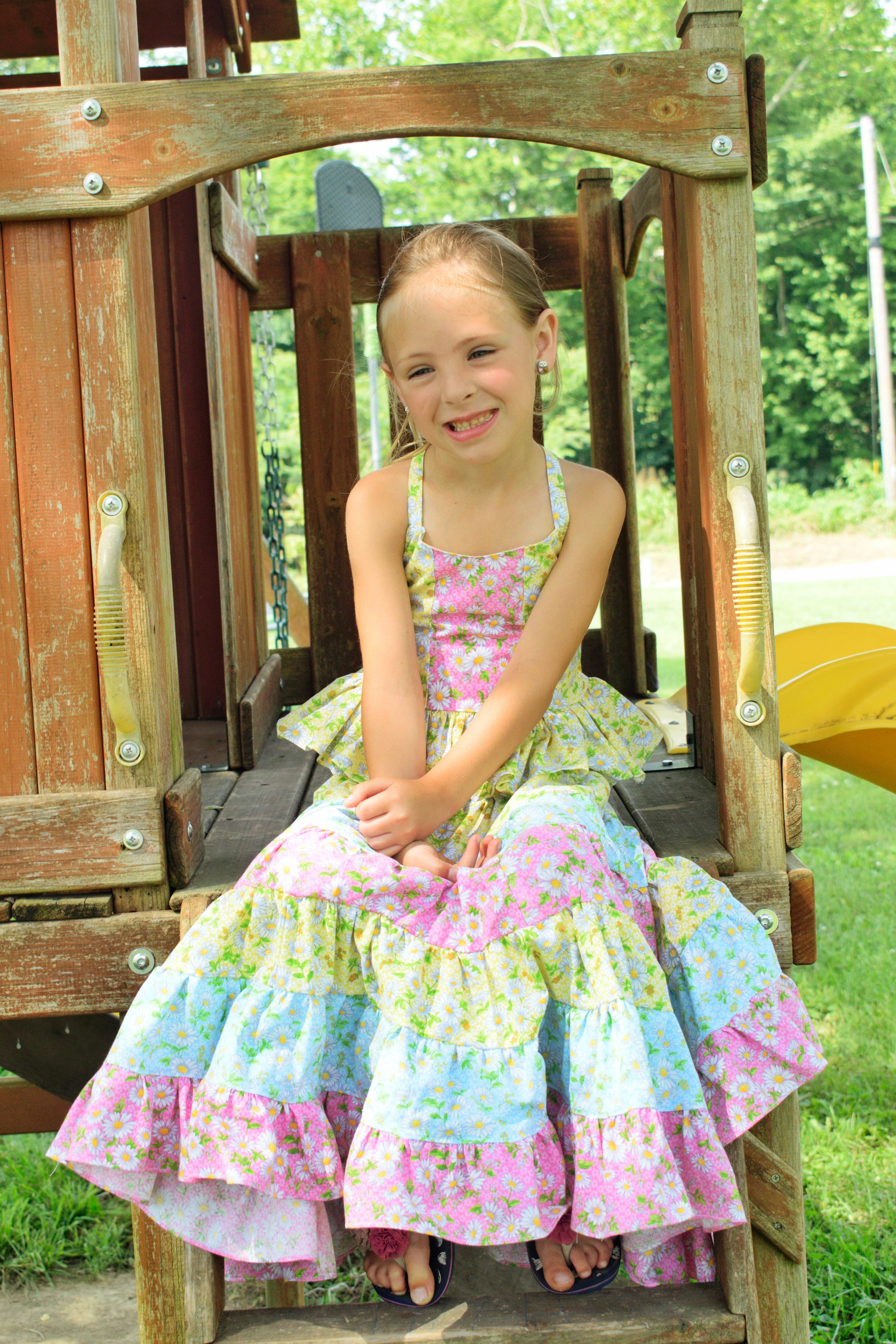 Prism Rainbow Skirt Sizes 2T to 14 Kids PDF Pattern