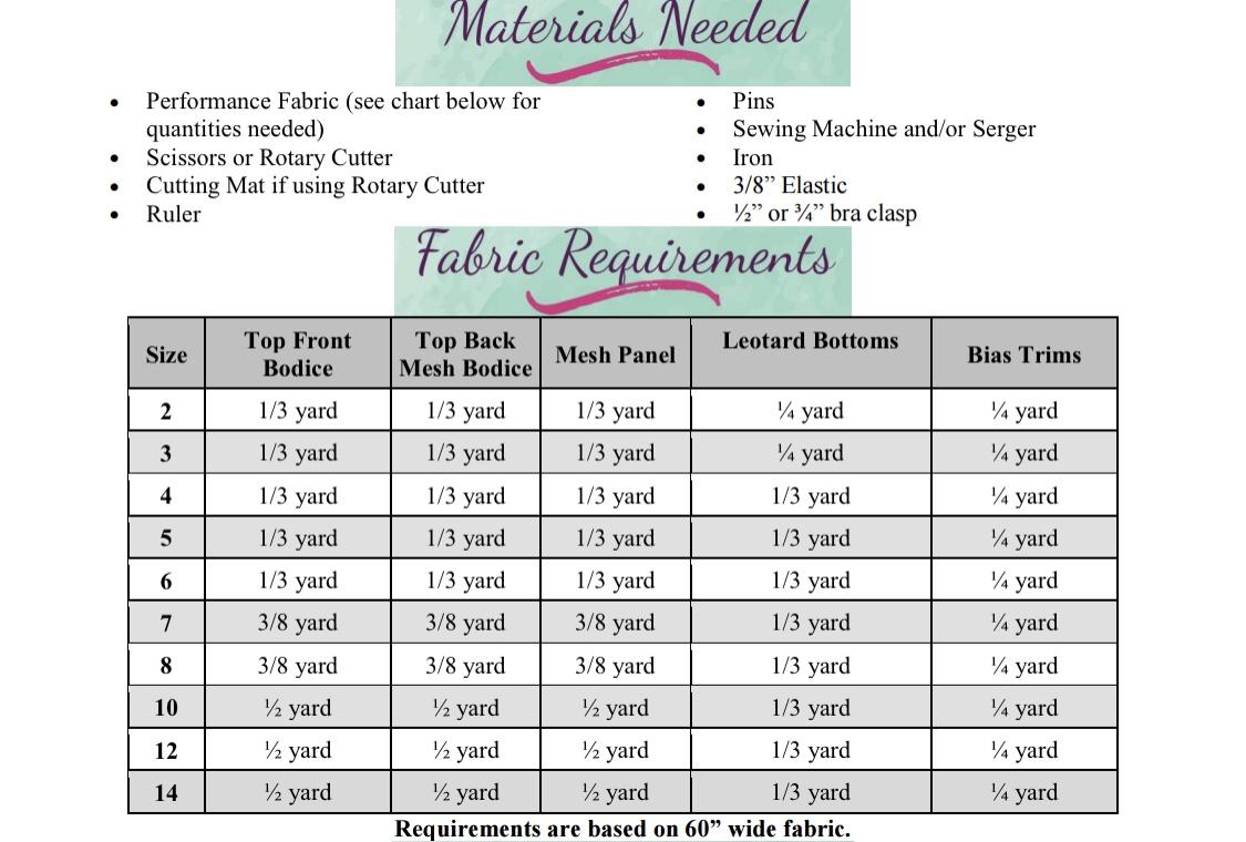 Makinley's Mesh Leotard Sizes 2T to 14 Kids  PDF Pattern