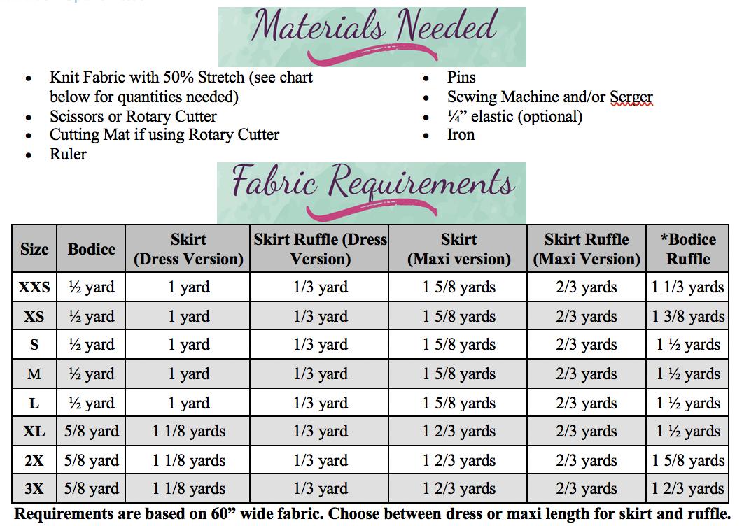 Marilla's Knit Dress & Maxi Sizes XXS to 3X Adults PDF Pattern