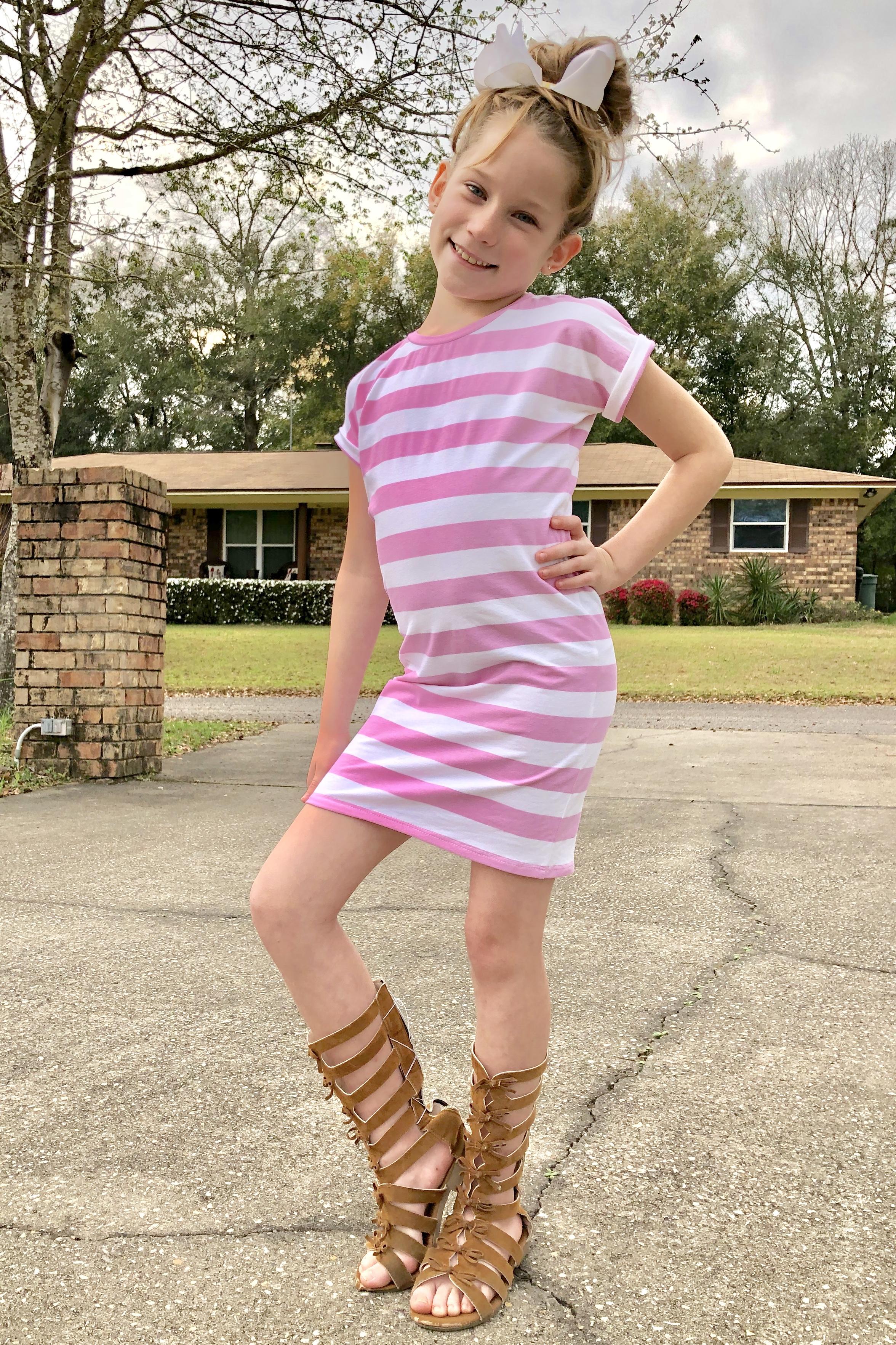 Dana's Dolman Top, Dress, and Maxi Sizes 2T to 14 Kids PDF Pattern