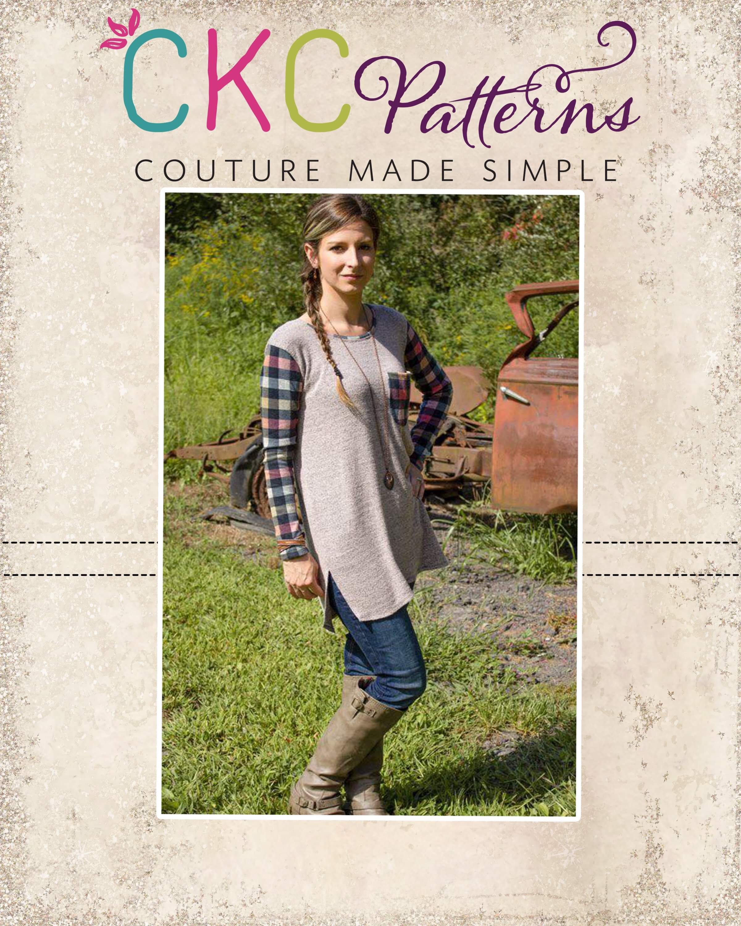 Reed's Relaxed Fit Crop, Tee, Tunic, & Dress Sizes XXS to 3X Adults PDF Pattern