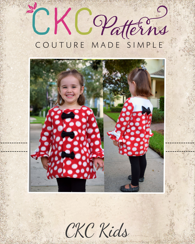 Walker's Winter Coat Sizes 2T to 14 Kids PDF Pattern