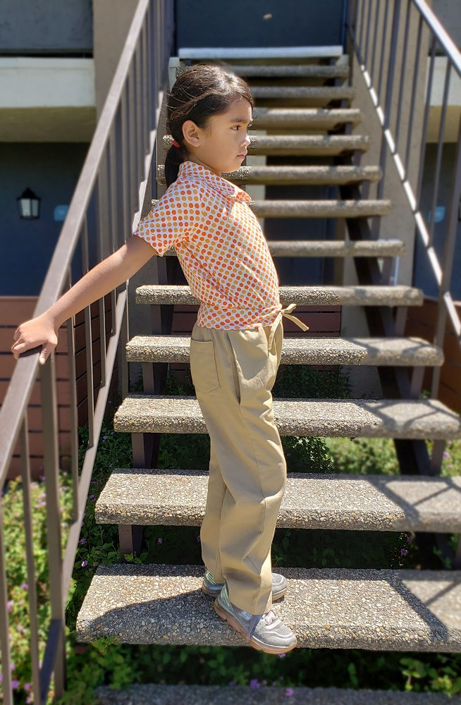 Otto's Knit-Waist Woven Pants Sizes 2T to 14 Kids PDF Pattern