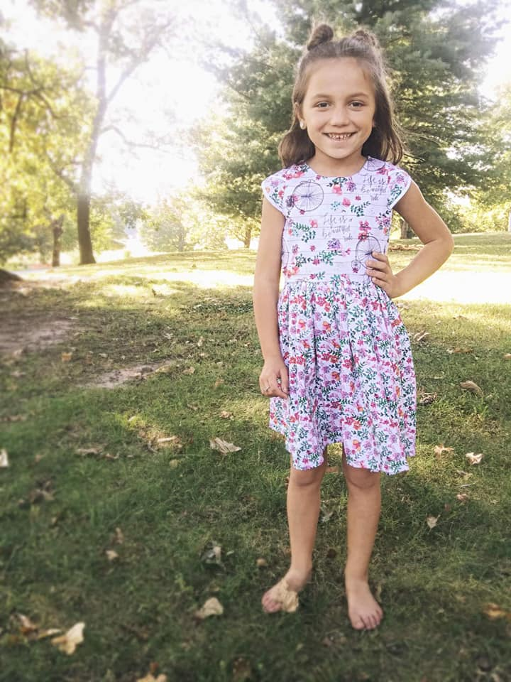 Healanni's Corset Top and Dress Sizes 2T to 14 Kids PDF Pattern